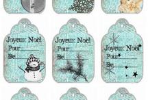 étiquettes de noel