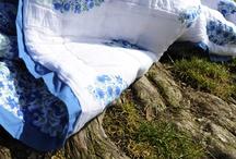 Blue Quilts / Handmade quilts- Designer Bedding Quilts - Blue Quilts
