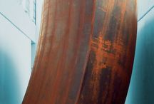 """Richard Serra / """"My sculptures are not objects for viewer to stop and stare at.""""  (Richard Serra)"""