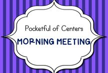 Morning Meeting / Kindergarten ideas for Morning Meeting