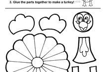 "Sami's ""homework"" / My 5 year old wants homework after school, like her big brother. :)"