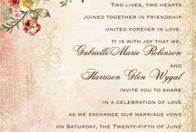 Wedding invitation wording / Wedding invitation wording