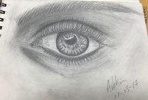 pencil eyes