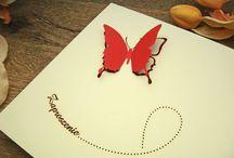 zaproszenia z motylem
