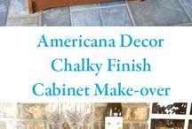 Decoart Chalky Finish / Trabajos con Decoart Chalky Finish Americana. Pintura de muebles y accesorios.