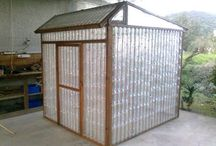 green house from plastic bottles