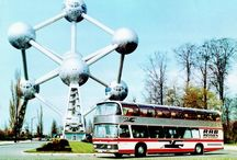 Autobusy, trolejbusy a tramvaje/Buses, trolleybuses and trams / Doubledecker u bruselské dominanty.
