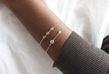 Dainty Jewellery / Dainty and delicate Personalized jewellery. 9k, 10k solid gold & 14k Gold filled delights from The Complemental's sister brand Tomorrow's Artefacts. Handmade to order in London by Antonia Marcella.