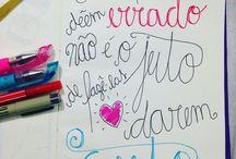 Meus letterings & caligrafias / Frases inspiracionais que eu fiz manualmente em cadernos