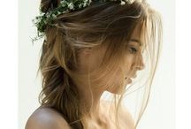 Wedding hair / Ideas for wedding day hair. I prefer loose up-dos with a soft, romantic, rustic, beach hair look - so this board is filled with ideas for that type of hair.