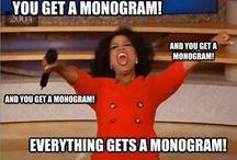 I love monograms!