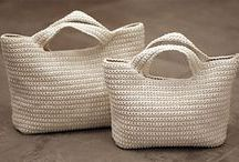 knit hand bag