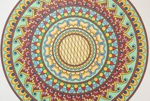 Monday Mandala Submissions / Pin your mondaymandala colored pages here! Invite your friends. <3 Print, color, share!