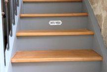 Escalier peind
