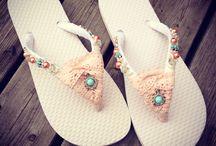 Slippers pimpen / Voorbeelden van slippers gemaakt tijdens de workshop slippers pimpen @abitoflilli