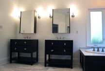 Modern Master Bath / Master bath remodel using beautiful marble stone throughout