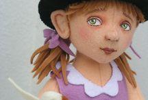 felting needle dolls