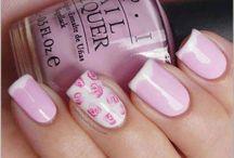 Nails and nail polish.
