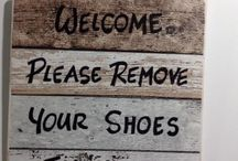 No Shoes Welcome Sign idea: Signs made, quality reading Welcome Please Remove Your Shoes Thank You