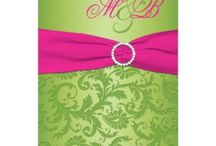 Pink and Green Wedding Invitations / Pink and Green Wedding Invitations