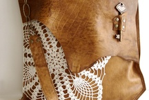 Leather mix Crochet