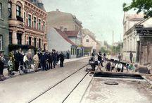 Old City in Poland / Stare zdjęcia miast w Polsce - pokolorowane