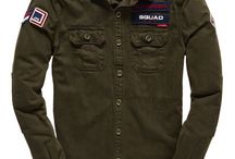 camisas sarja militar