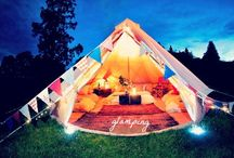 Glamping / If camping isn't your thing, then check out glamping! It's a better way to camp that still brings the comforts of home with you!