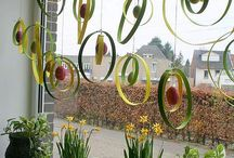 spring window decoration