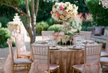 Peach, pink and puder wedding