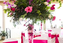 Floral Centerpieces / Artfully created floral centerpieces by A Happily Ever After Floral in Jacksonville, Florida.