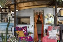 Homes away from home / Caravans, holiday homes, inspiration!