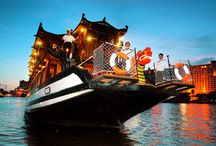Water Puppet show & dinner on Cruise / A wonderful city tour with Water Puppet Show and Dinner on Cruise Highlights:  ·  Experience on Scooter around the center of Sai Gon city ·  Water Puppet show ·  Nice view of Sai Gon city on the night ·  Dinner on cruise