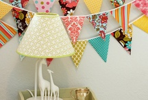BUNTING - hanging pretty / bunting, beautiful hanging decor, party decor
