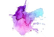 Watercolour splashes