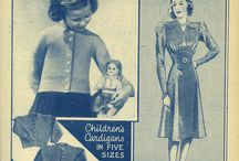 Original Vintage Knitting Patterns / These  knitted vintage pattern ideas from 1940s and 1960s issues of Woman's Weekly are timeless if given a tweak