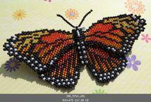 Бисер: бабочки