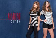 Colección Marino Style  / La actitud fresca y relajada se está infiltrando en la conciencia de la moda. Las rayas son claves para esta temporada,