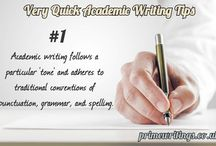 Very Quick Academic Writing Tips