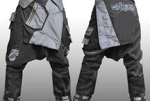Mens Sarouel Pants / Mens Cyberpunk, Steampunk and Unique Sarouel Pants.