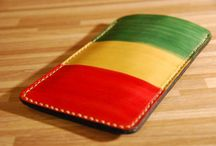 Bob Marley leather cover , reggae music , veg tan leather, handcrafted :)