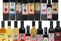 Balsamic Vinegars  / Our Olive Pit Traditional Balsamic Vinegar comes from Modena, Italy.   These Vinegars are aged in mulberry & oak casks by master vinegar makers of Modena and infused with local fresh fruit.