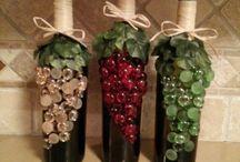 бутылки, бокалы/ bottles and glasses