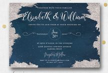NAVY BLUE AND SILVER STAR CONSTELLATION WEDDING
