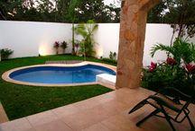 piscinas e área externa