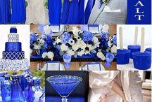 Cobalt Blue Wedding Ideas / Something Borrowed , Something Blue? Cobalt Blue is an popular color trend for weddings!