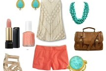 I love coral and turquoise / by Florence Gines
