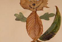 Jesenná líška  z listov