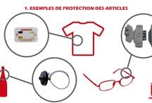"""Portiques antivol / Les portiques antivol permettent de réduire la démarque inconnue liée à des visiteurs et """"clients"""" indélicats : vos articles sont protégés à l'aide de tags ou d'étiquettes et les portiques sonnent lorsque des produits équipés sont détectés."""