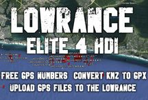 Lowrance Elite 4 HDI Fish Finder and GPS Unit / This board contains information on how to use the Lowrance Elite 4 HDI; downscan imagery, loading gps coordinates, using waypoints and other helpful tips and tricks.